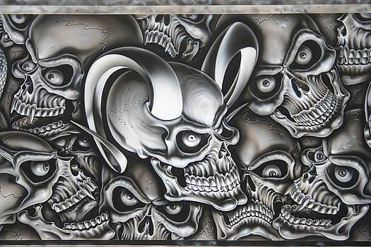 Ram Horn Skull by Terry Stephens