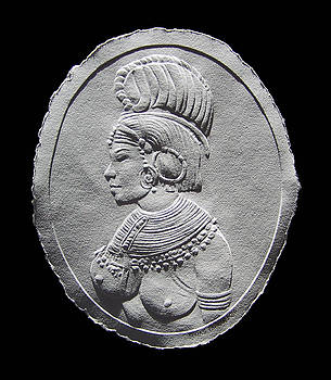 Randille Tribe Woman Relief Drawing by Suhas Tavkar