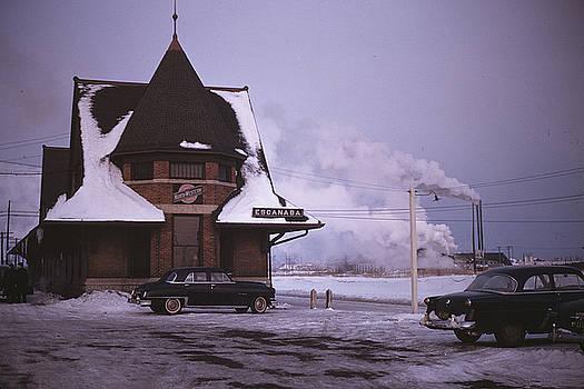 Rare 1953 Color Chicago And North Western Escanaba, Michigan by Alan Kurtz