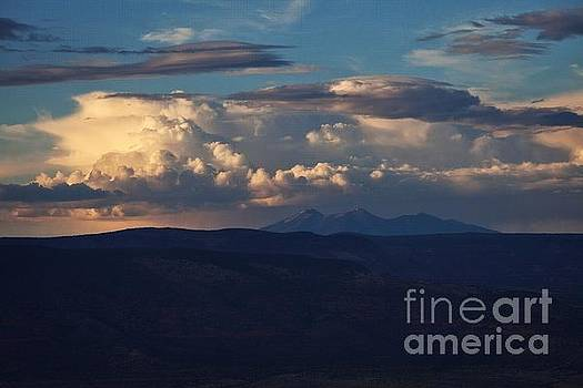 Rare June Storm Glow San Francisco Peaks by Ron Chilston