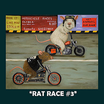 Leah Saulnier The Painting Maniac - Rat Race 3 with Lettering