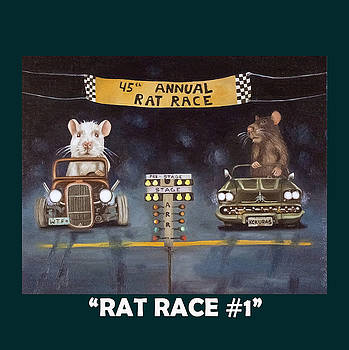 Leah Saulnier The Painting Maniac - Rat Race with Lettering