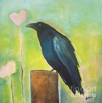 Raven in the Garden by Vesna Antic