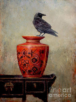 Raven on Red  by Lori  McNee