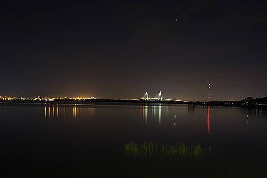Ravenel Bridge At Night by Brent Paape