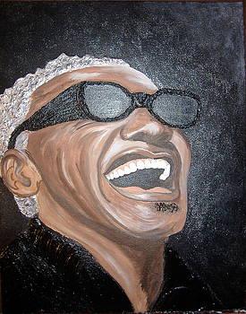 Ray Charles by Keenya  Woods