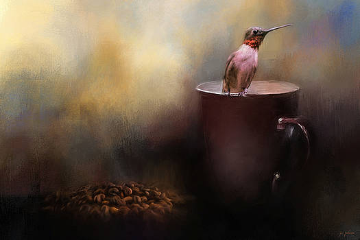 Jai Johnson - Ready For Morning Coffee - Hummingbird Art