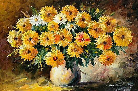 Recollection 2 - PALETTE KNIFE Oil Painting On Canvas By Leonid Afremov by Leonid Afremov