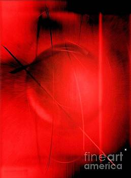 Red Abstract 512 by John Krakora