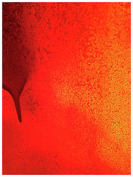TONY GRIDER - RED ABSTRACT PAINT DRIP