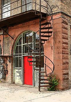 Red Alley Door by Steve Augustin