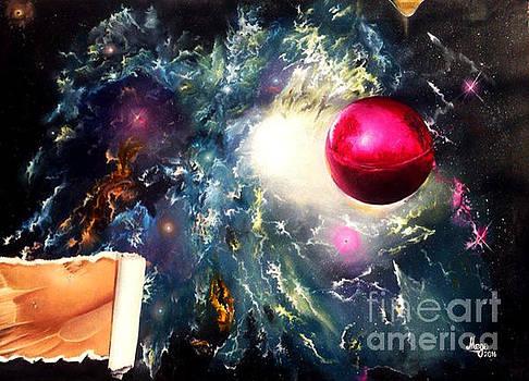 Red Ball by Gocha Medzmariashvili