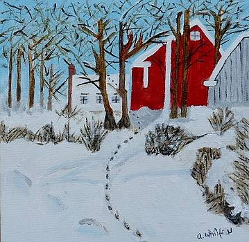 Red Barn by Ann Whitfield