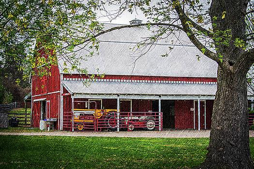 Red Barn At Kinder Farm by Brian Wallace