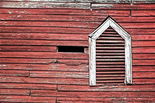 Red Barn Gable Vent by Melissa Bittinger