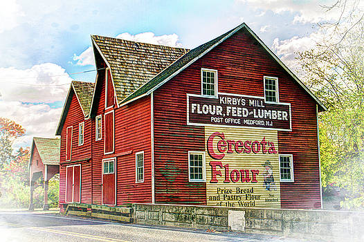 Grist Mill barn in Medford New Jersey by Geraldine Scull