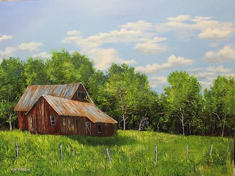 Red Barn by Ken Ahlering
