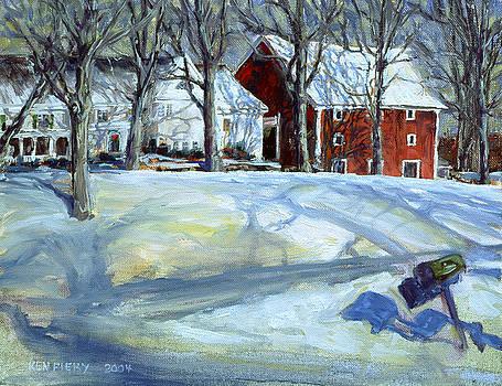 Red Barn by Ken Fiery