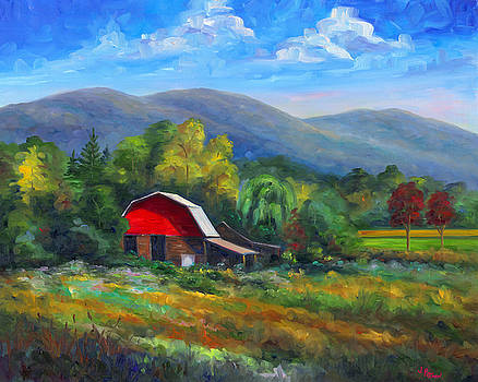 Red Barn on Cane Creek by Jeff Pittman