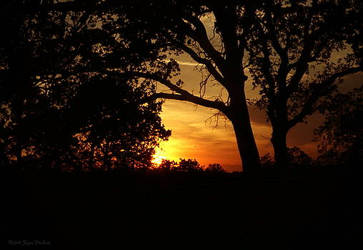 Red Bluff Sunset by Joyce Dickens