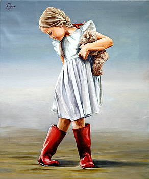 Red boots by Natalia Tejera