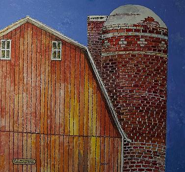 Red Brick Silo by Donald McGibbon