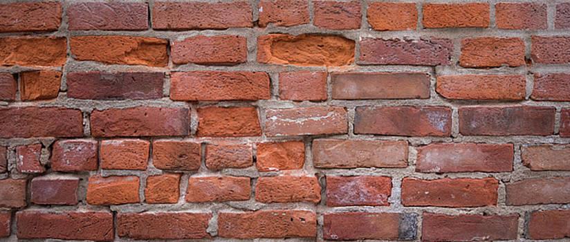 Red Brick Wall by Steve Gadomski
