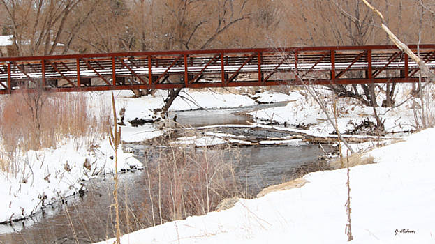 Red Bridge over Snowy Creek by Gretchen Wrede