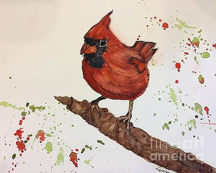 Red Cardinal by Lucia Grilletto