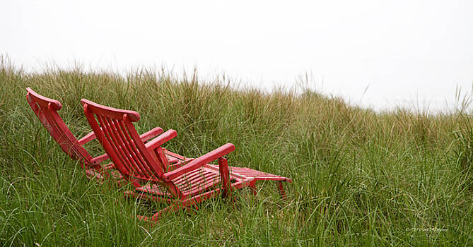 Red Chairs by Carol Hathaway