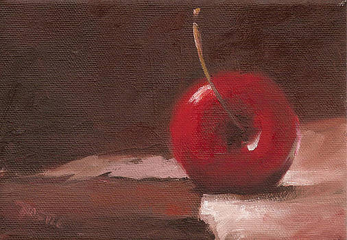 Red Cherry Print Wall Art Print by Patti Trostle