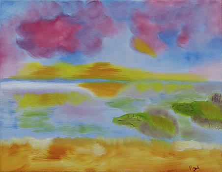 Cherry Sunset by Meryl Goudey