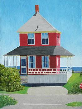 Red Cottage Summer by Barbara Nolan