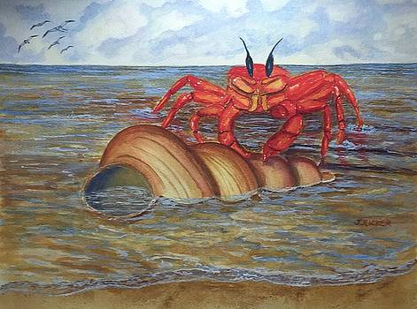 Red Crab by Jane Ricker