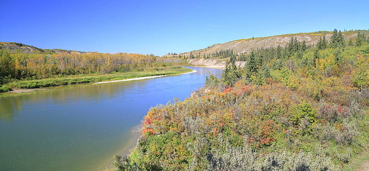 Red Deer River - Alberta by Jim Sauchyn