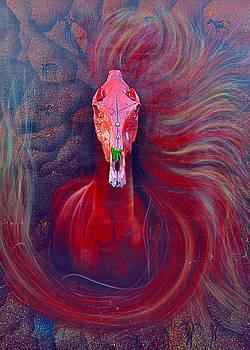 Red Diablo Horse by Mayhem Mediums