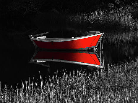 Red Dinghy by Juergen Roth