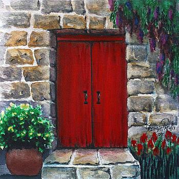 Red door by Georgia Pistolis