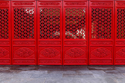 Red doors by Alex Land