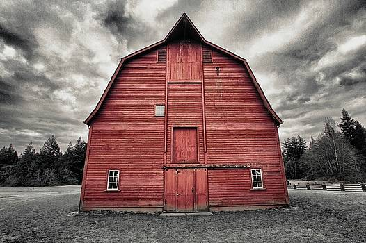 Red Faced Barn by Scott Holmes