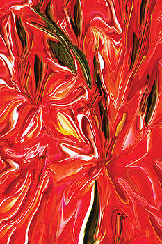 Red Floral by Rabi Khan
