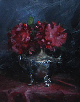 Red Floral Study  by Rich Alexander