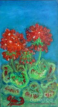 Red Geranium by Anna Folkartanna Maciejewska-Dyba