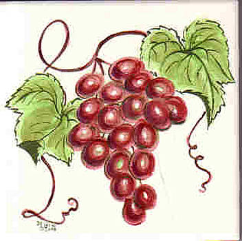 Red Grapes by Dy Witt
