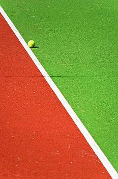 Silvia Ganora - Red Green White Line and Tennis Ball