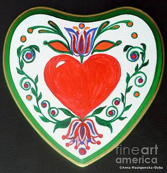 Just Red Heart by Anna Folkartanna Maciejewska-Dyba