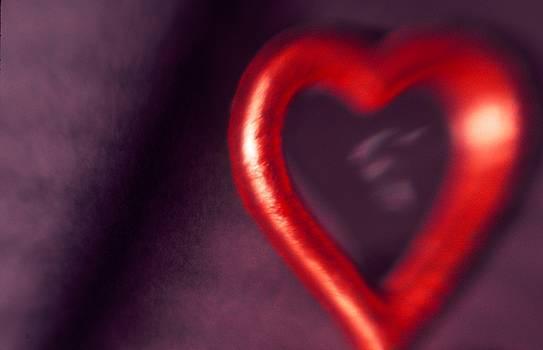 Red Heart Mirror by Tamarra Tamarra