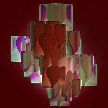 Deborah Benoit - Red hearts
