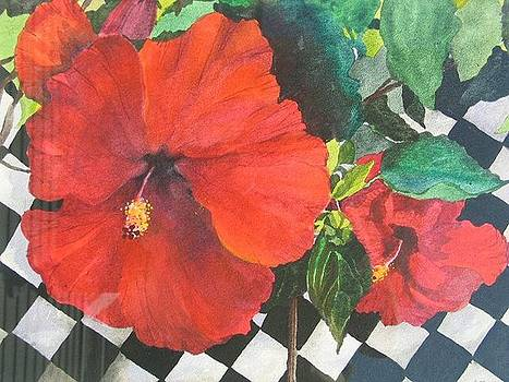 Red Hibiscus by Carole Poole