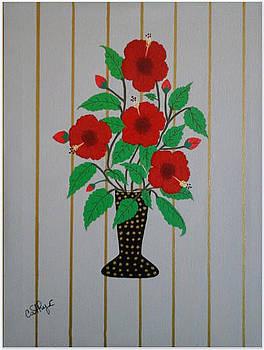 Red Hibiscus by Catherine Velardo